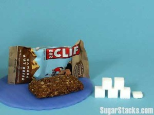 1 Clif Bar has 21 grams of sugar and 250 calories, of which 84 calories are from sugar