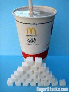 A medium size (21 oz.) helping of McDonalds Chocolate Shake