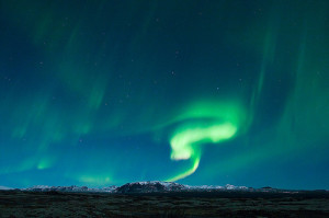 The northern lights of Iceland