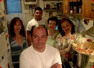 Jorge Munoz in the kitchen