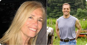 "PETA""s sexiest vegetarian woman - Mimi Clark - and sexiest vegetarian man - Julian Winter"