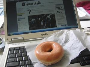 computer donut