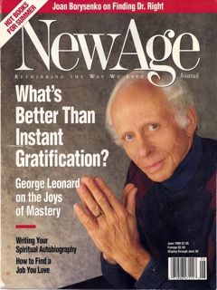 Leonard on the cover of New Age magazine