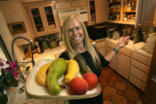 Mimi Kirk in her kitchen