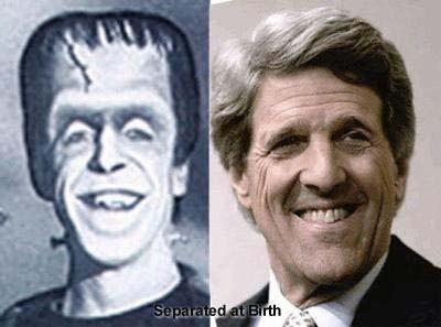 Senator John Kerry and Herman Munster