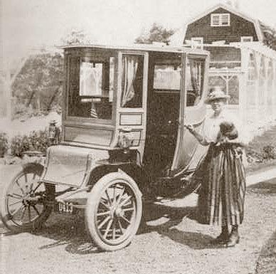 An electric vehicle from the early years of the 20th century