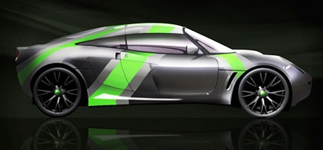 The Nemesis, a wind-powered electric sports car