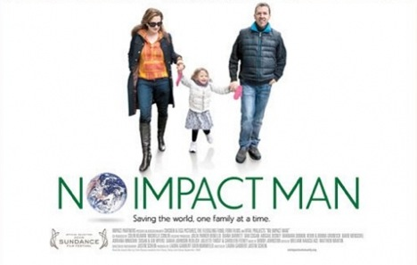 The poster for the No Impact Man documentary