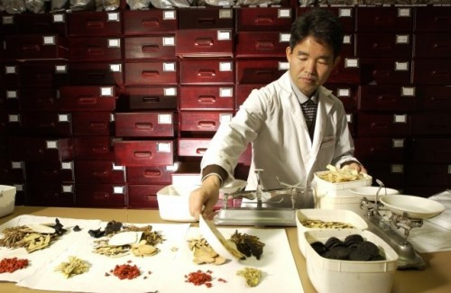 A Chinese herbal pharmacy