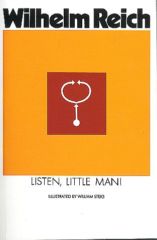 """Reich's book, """"Listen Little Man,"""" was one of the six tons of books burned"""
