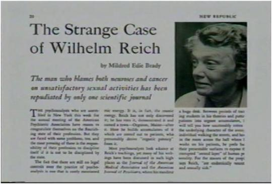 """The article, """"The Strange Case of Wilhelm Reich,"""" was the beginning of the end for Reich"""