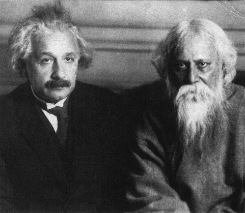 Einstein and the Indian poet, novelist, musician and mystic Tagore